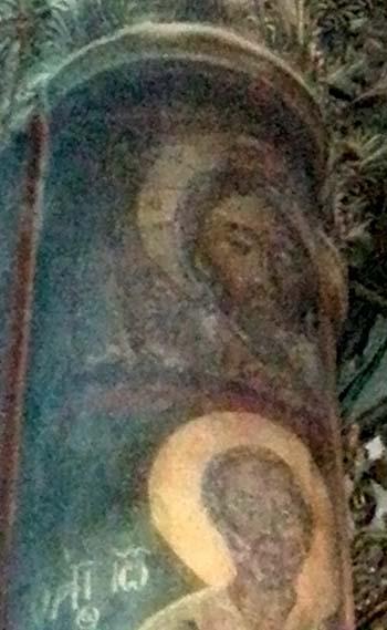 Колонна с изображением «Спаса  Нерукотворного»